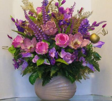 Lavender Dream Bouquet Extra Large Lavender Silk Arrangement