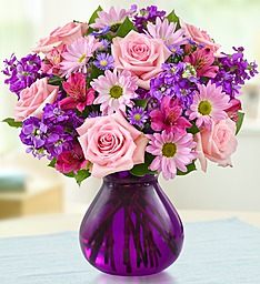 Lavender Dreams  In Chic Purple Vase