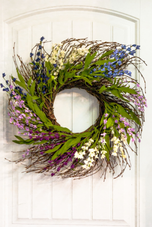 Lavender Dreams Silk Floral Wreath in Corner Brook, NL | The Orchid
