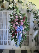Lavender Dreams Sympathy Spray Floral Arrangement