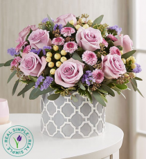 Lavender Elegance™ By Real Simple assorted flowers