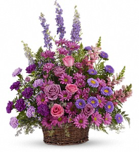 Lavender Fields Basket Arrangement