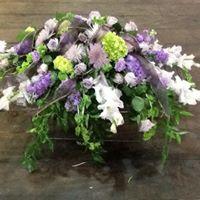 LAVENDER FIELDS CASKET FLOWER