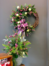 Lavender Fields Wreath and Pot