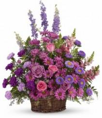 Lavender Garden Basket Sympathy Bouquet