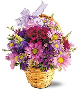 Lavender Garden Bouquet          TF-F7 Basket Arrangement