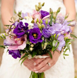 lavender garden bridal bouquet in Airdrie, AB | Flower Whispers