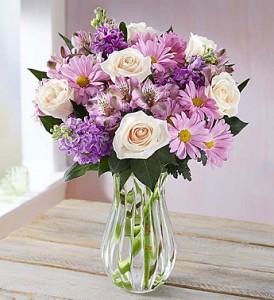 Lavender Garden in clear vase