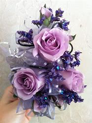Lavender Glitz Prom Corsage