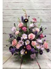 Lavender Grace Basket Funeral Flowers