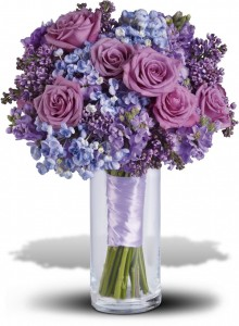Lavender Heaven Bouquet T194-6A  in Merced, CA | TIOGA FLORIST INC.