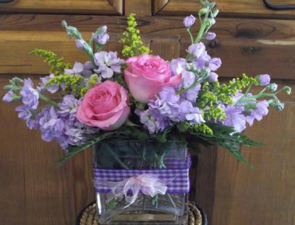 Lavender Lady Rectangle Vase