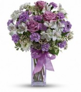 Lavender Laughter Bouquet Vase Arrangement