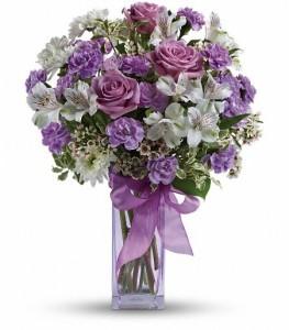 Lavender Laughter Bouquet Vase Arrangement