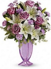 Lavender Smiles  Bouquet Exquisite Lavender Arrangement