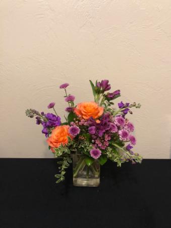 Lavender Love Compact Vase Arrangement