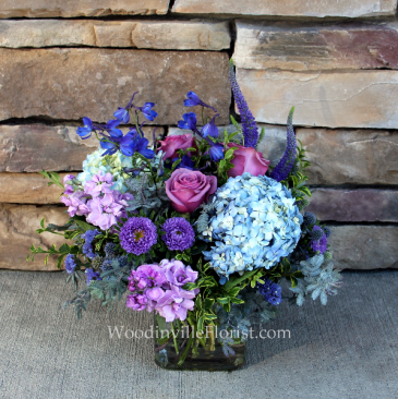 Lavender Love Cube Vase Everyday Flowers