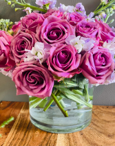 Lavender love Flower arrangement vase