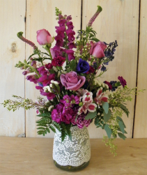 Lavender Love  Romantic Floral Arrangement