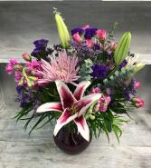 Lavender Love Vase