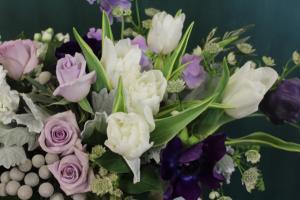 Lavender Love Vase Arrangement in Northport, NY | Hengstenberg's Florist