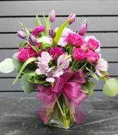 Lavender Loveliness  Vase Fresh Arrangment
