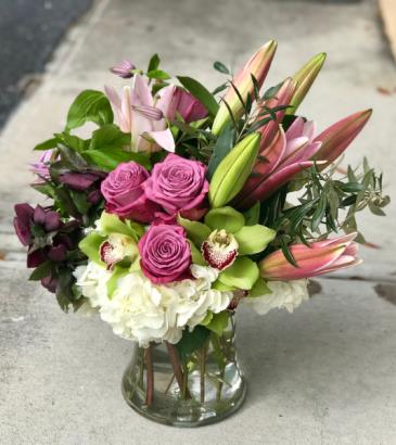 Lavender Lush Bouquet Vased Arrangement