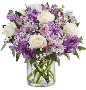 Lavender Memoires Fresh Vase in Fulton, NY | DeVine Designs