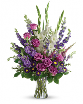 Lavender Memories Sympathy Arrangement