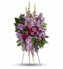 Lavender Reflections Spray floral arrangement