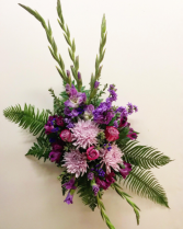 Lavender Reflections Standing Spray Funeral
