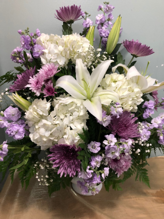 Lavender Remembrance Arrangement