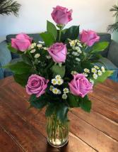 Lavender Roses Arrangement