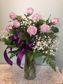 Lavender Rose Arrangment