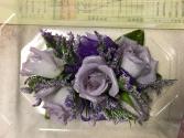 lavender rose corsage wrist corsage