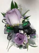 Lavender Rose Coursage
