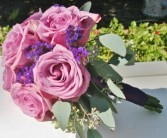 LAVENDER ROSE  Wedding Bridesmaids Bouquet