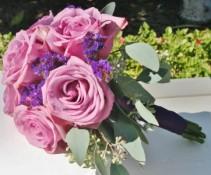 LAVENDER ROSE  Wedding Bridesmaids Bouquet