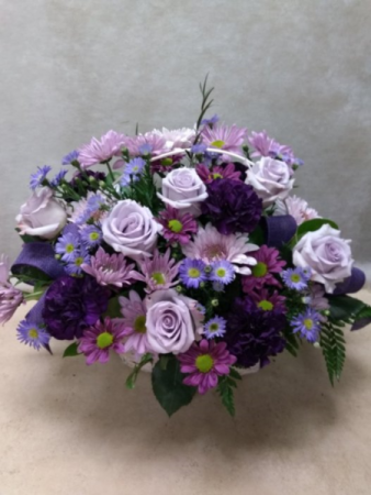 Lavender Roses and Daisies