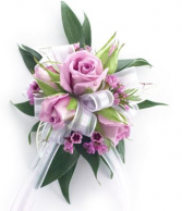 Soft Lavenders Mini Rose Corsage