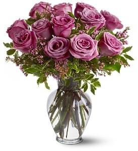 Lavender Roses Vased