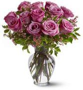Lavender Roses Vased Roses