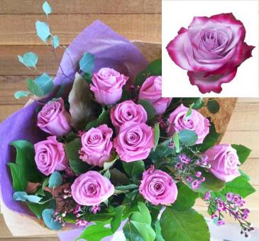 Lavender Roses, Wrapped Roses, Wrapped, VASE READY