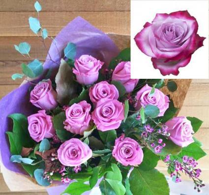 Lavender Roses, in Kraft Paper  Roses, Wrapped