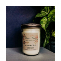 Lavender Sage Soy Candle  Waveland Candle Company