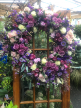 Lavender standing spray  Wreath Funeral Flowers Roma Florist  Free Delivery Order online