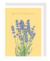 Yellow Floral Sympathy Card