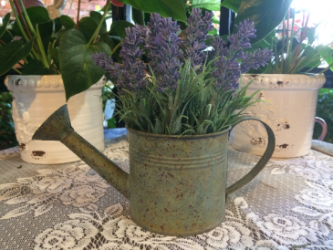Lavender Tin Watering Can Giftware