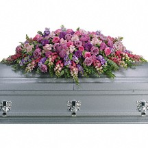 Lavender Tribute Casket Spray in Whitesboro, NY | KOWALSKI FLOWERS INC.