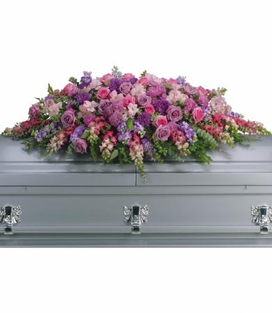 Lavender Tribute Casket Spray